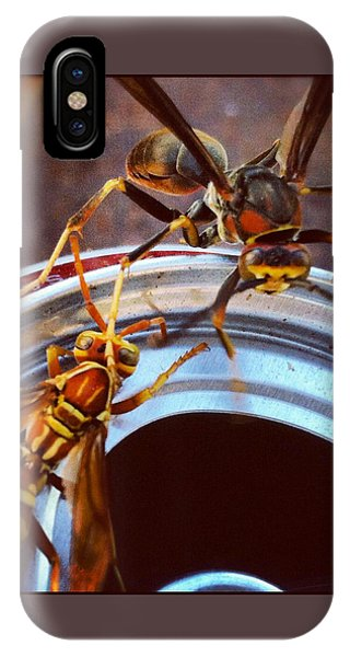 Soda Pop Bandits, Two Wasps On A Pop Can  IPhone Case