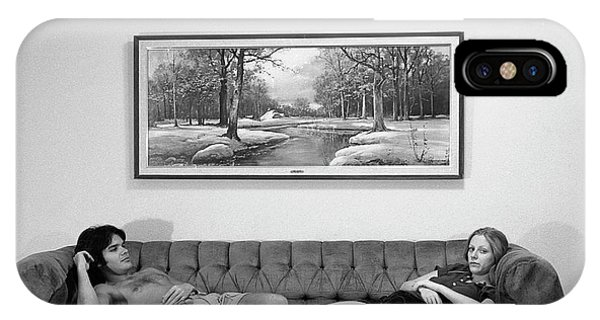 Sofa-sized Picture, With Light Switch, 1973 IPhone Case