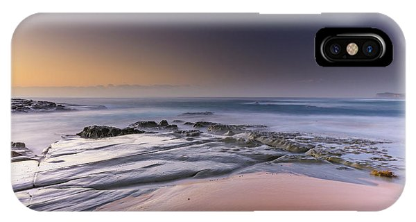 Soft And Rocky Sunrise Seascape IPhone Case