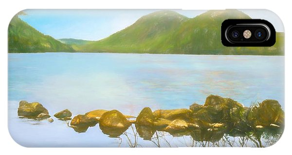 Soft Art Photograph Jordan Pond Acadia Nat. Park Maine IPhone Case