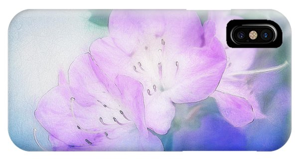 Close Up Floral iPhone Case - Soft Azaleas by Terry Davis