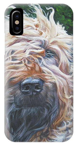 Pup iPhone Case - Soft Coated Wheaten Terrier by Lee Ann Shepard