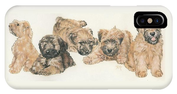 Soft-coated Wheaten Terrier Puppies IPhone Case