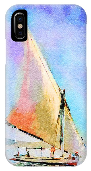 IPhone Case featuring the painting Soft Evening Sail by Angela Treat Lyon