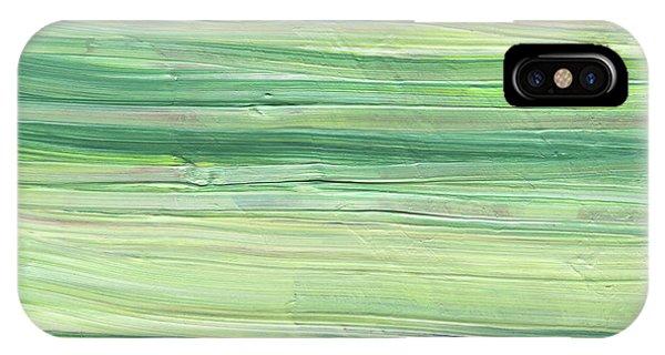 Organic Abstraction iPhone Case - Soft Green Organic Abstafor Interior Decor Viii by Irina Sztukowski