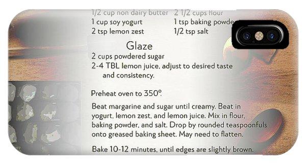 Soft Lemon Cookie Recipe IPhone Case