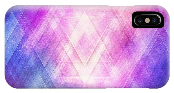 Soft Modern Fashion Pink Purple Bluetexture  Soft Light Glass Style   Triangle   Pattern Edit IPhone Case