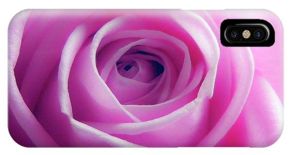 Soft Pink Rose 5 IPhone Case