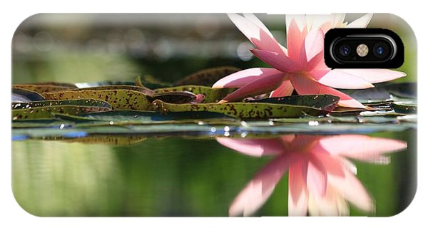 Soft Pink Water Lily IPhone Case