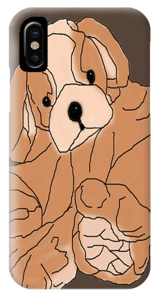 IPhone Case featuring the digital art Soft Puppy by Jayvon Thomas