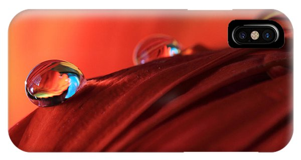 Soft Red Petals With Water Drops IPhone Case