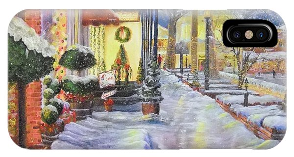 Soft Snowfall In Dahlonega Georgia An Old Fashioned Christmas IPhone Case