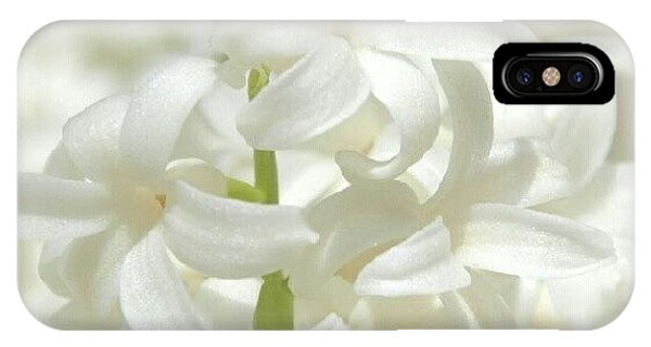 White iPhone Case - Soft White Flowers by James Granberry