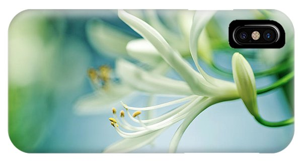 Blooming iPhone Case - Soft White by Nailia Schwarz