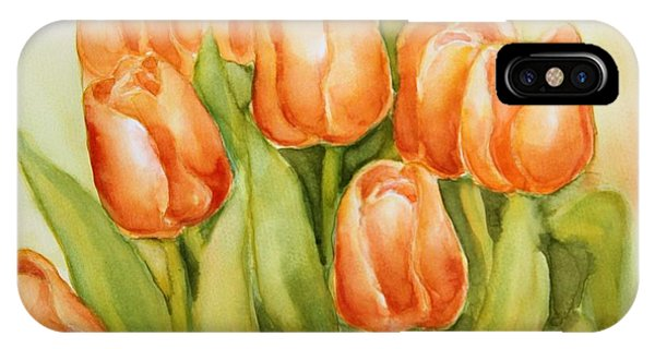 Soft Yellow Spring Tulips IPhone Case
