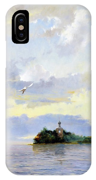 Russian Impressionism iPhone Case - Softly Fly Away by Georgiana Romanovna