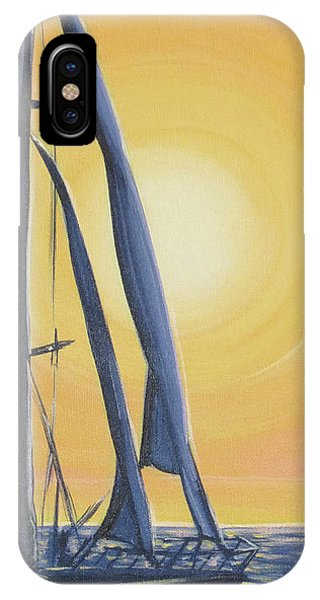 Softly Setting Sun IPhone Case