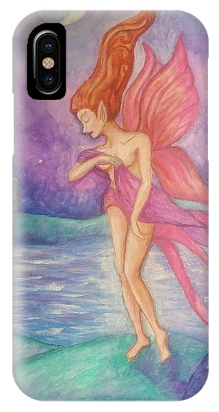 Softly,on The Wings Of Night IPhone Case