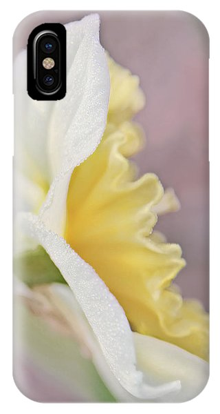 IPhone Case featuring the photograph Softness Of A Daffodil Flower by Jennie Marie Schell