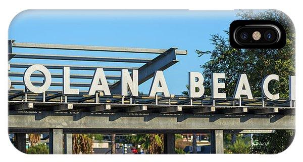 Solana Beach Kinda Day IPhone Case