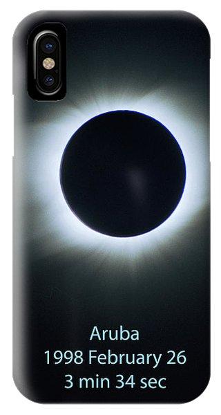 Solar Eclipse Aruba 1998 IPhone Case