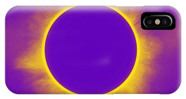 Solar Eclipse In Purple IPhone Case