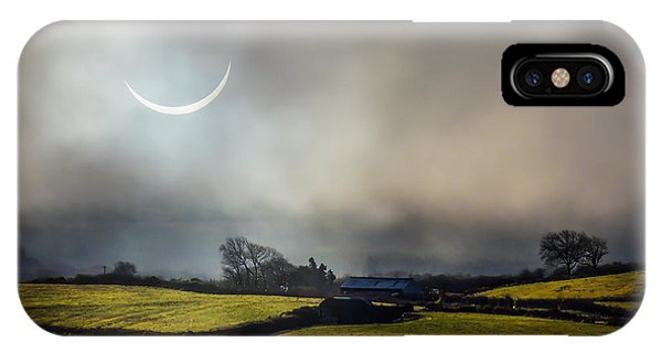 Solar Eclipse Over County Clare Countryside IPhone Case