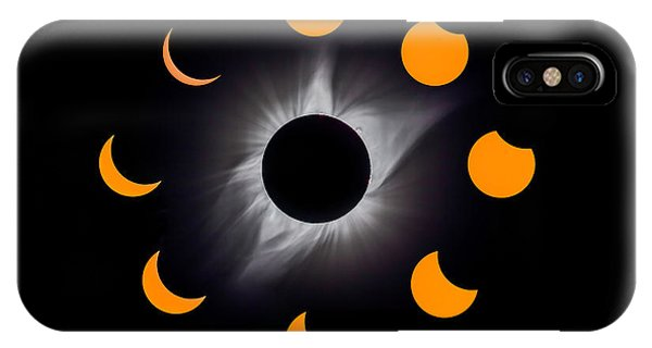 Solar Eclipse Stages IPhone Case
