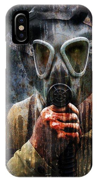 Soldier In World War 2 Gas Mask IPhone Case