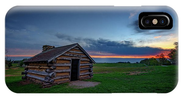 Cabin iPhone Case - Soldier's Quarters At Valley Forge by Rick Berk