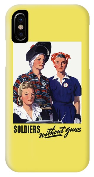 Soldiers Without Guns - Women War Workers - Ww2  IPhone Case