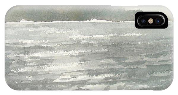 Soldis Over Glittrande Fjord - Sunlit Haze Over Glittering Water_0023 76x48cm IPhone Case