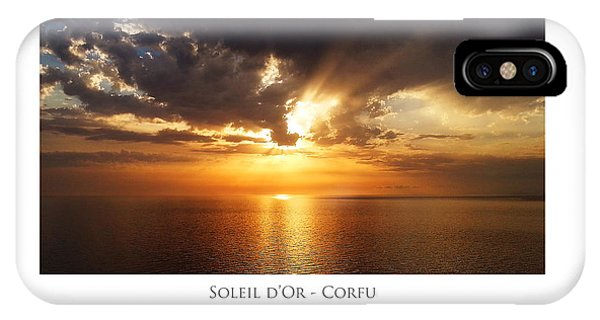 IPhone Case featuring the digital art Soleil D'or - Corfu by Julian Perry
