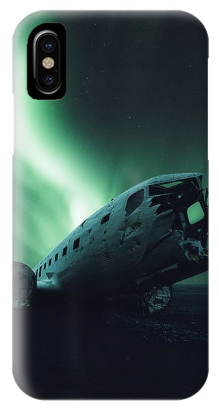 Airplanes iPhone Case - Solheimsandur Crash Site by Tor-Ivar Naess