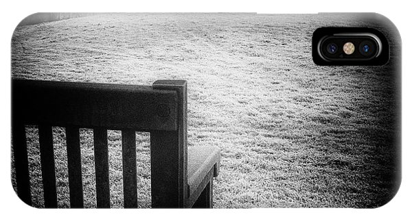 Solitary Bench In Winter IPhone Case