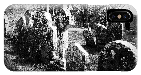 Timeworn iPhone Case - Solitary Cross At Fuerty Cemetery Roscommon Irenand by Teresa Mucha