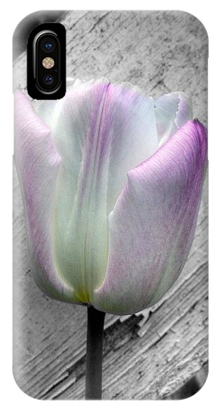 Solitary Pink Whisper Tulip IPhone Case