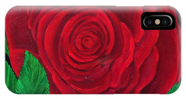 Solitary Red Rose IPhone Case