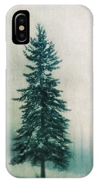 Spruce iPhone Case - Solitary Tree by Priska Wettstein