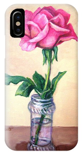 Solo Rose IPhone Case
