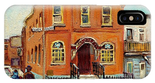 China Town iPhone Case - Solomons Temple Montreal Bagg Street Shul by Carole Spandau