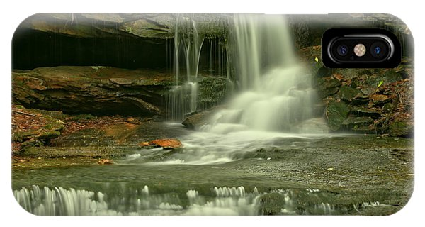 Somerset County iPhone Case - Somerset County Cave Falls by Adam Jewell