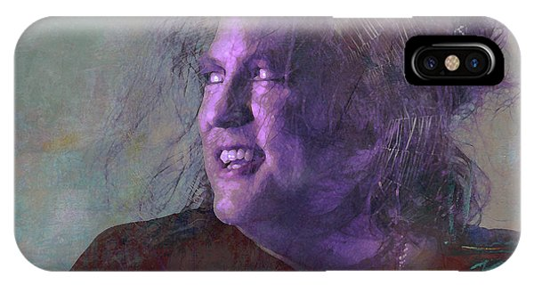 Robert Smith Music iPhone Case - Something Beginning With S by Mal Bray