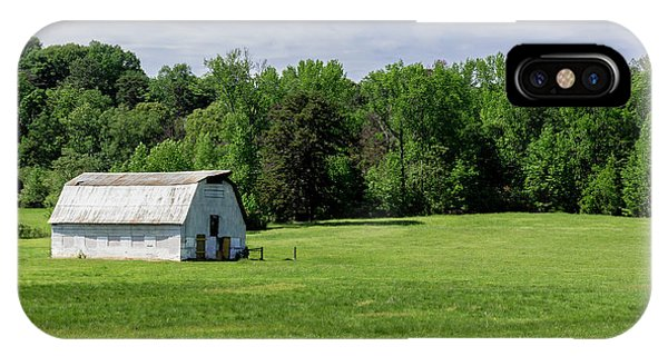 Barn In Green Pasture IPhone Case