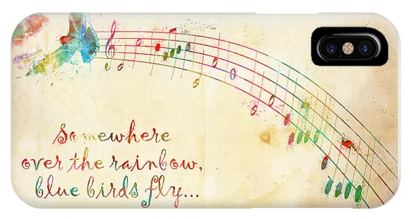 Rock And Roll iPhone Case - Somewhere Over The Rainbow by Nikki Smith
