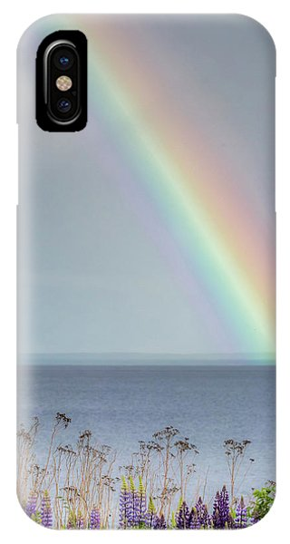 Lake Superior iPhone Case - Somewhere Under The Rainbow by Mary Amerman