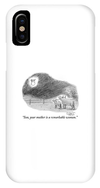 Son, Your Mother Is A Remarkable Woman IPhone Case