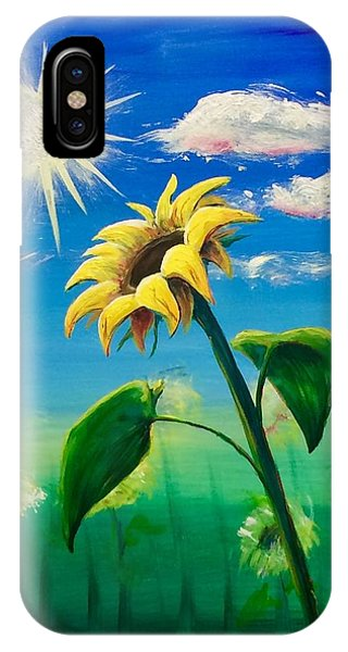 IPhone Case featuring the painting Sonflower by Lisa DuBois