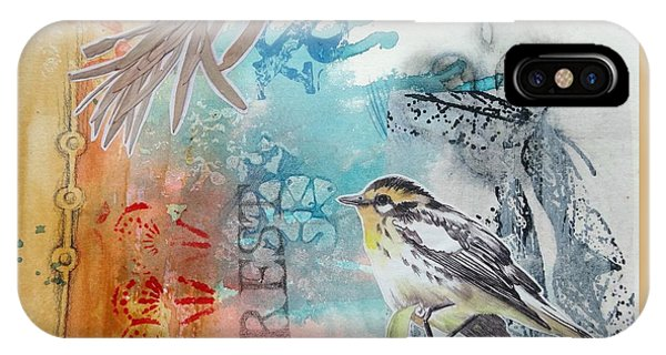 IPhone Case featuring the mixed media Song Of Life  by Rose Legge