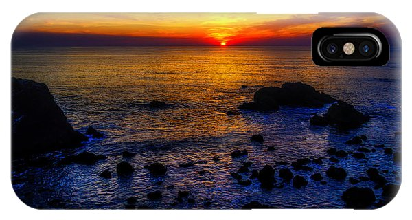 Sun Set iPhone Case - Sonoma Coast Sunset by Garry Gay